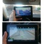 """7 """" автомобильный видеорегистратор GPS радар-детектор 1080 P android-авто камеры с камеры заднего вида радар-детектор автомобильный GPS навигации 16 г"""