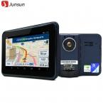 7 дюймов автомобильный GPS навигация андроид радар-детектор с DVR автомобильный навигатор европа или навител карта грузовик GPS спутниковой навигации
