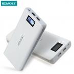 ROMOSS SENSE 6 Плюс ЖК 20000 мАч Внешний Аккумулятор Зарядное Устройство Блок Питания банк Питания для iPhone Samsung Note 5 S6 Edge Плюс