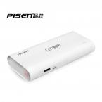 Pisen из светодиодов 18650 зарядное устройство 10000 мАч внешняя батарея портативное зарядное устройство Powerbank 2A для iPhone для Xiaomi универсальный