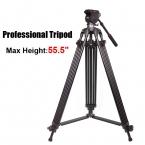 Jy0508b JIEYANG видеокамера профессиональный штатив для видеокамер подставкой / DSLR тяжелая видео штатив / головки / 55.5 дюймов максимальная высота