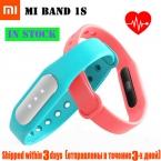 Оригинал Bluetooth 4.0 Сяо-mi Mi 1 S Черный Пульс Heart Rate Monitor Монитор Сна Смарт Браслет Браслет Для смартфоны
