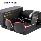 HDCRAFTER Роскошные Очки Женщины Марка Дизайнер Женщины Ретро Большие Солнцезащитные очки UV400 óculos de sol