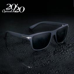 Бренд Солнцезащитных Очков Мужчин Поляризованный Черный Квадрат Очки Ретро Металл Вождения UV400 Мужчины Gafas Де Золь PL226