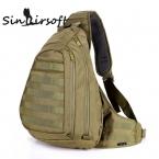 тактическая груди слинг рюкзак спорт на открытом воздухе для одного плеча парня большие Пешие прогулки путешествовать военных рюкзак тактических мешок