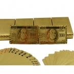 Один палуба золотая фольга покер доллар сша стиль пластиковые покер игральные карты водонепроницаемый карты хорошую цену