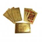 Один Палуба Золотая Фольга Игральные карты Водонепроницаемый Пластиковый Покер Дракон Стиль Хороший Подарок для Развлечений Казино Карт