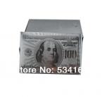 Серебряная Фольга Игральные карты Доллар США Стиль Пластиковые Покер Роскошный Подарок Хорошая Цена
