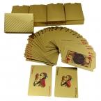 Одна колода золотая фольга покрытием игральные карты обычная версия пластиковые покер в наличии