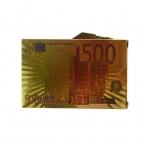 Одна Колода Игральных Карт Водонепроницаемый Пластиковая Золотая Фольга Покер цвет 500 Евро Стиль Хороший Подарок для Развлечений Казино Карт