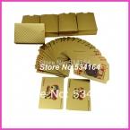 Золотая фольга покрытием игральные карты обычная версия пластиковые покер хорошая цена оптовая продажа