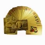 Золотая фольга покрытием игральные карты доллар сша стиль пластиковые водонепроницаемый покер 100 палуб / серия хорошая цена