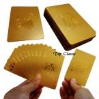 Прочный Водонепроницаемый Пластиковые Игральные Карты, Золотая Фольга в Покер Золотой Покер Карты 24 К Gold-фольга Гальваническим Игральные карты Покер настольные Игры