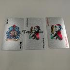 Прочный Водонепроницаемый Пластиковые Игральные Карты Покер Фольги Серебристый Цвет Покрытием Игральные карты Настольные Игры С Отслеживая Номером Корабль Падения