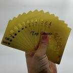 НОВЫЙ 24 К Карат Золотая Фольга Гальваническим Покер Игральные карты Подарочный Набор