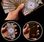 Водонепроницаемый Прозрачный Пвх Покер Золотым Обрезом Игральные карты Дракон Карта Новинка Высокое Качество Коллекция Настольная Игра Подарок Прочный