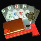 Новая Алюминиевая Коробка Прозрачная Прозрачная Пластиковая ПВХ Покер Новинка Высокое Качество Коллекция Настольная Игра Подарок Прочный Игральных Карт