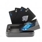Жести Коробка упакованы Пластиковые ПВХ Черный Покер Игральные карты Новизна Высокое Качество Коллекция Настольная Игра Подарок Прочная Устойчивость