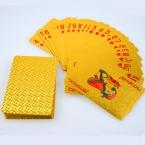 Водонепроницаемый Пластиковый 24 К Карат Золотая Фольга Гальваническим Покер Игральные карты Подарок Коллекция Настольные Игры Подарок Прочный