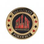 Все В Покер Карты Гвардии Protector, Металлическая Монета с Пластиковой Крышкой Металлической Стружки Poker Stars Золотой Цвет