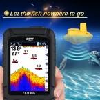 Повезло FF718Li-CW Беспроводной Портативный Эхолот 45 М/147 Футов Глубина Sonar Водонепроницаемый Эхолот Океан Реки Озера цвет fishfinder