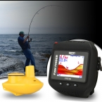 Повезло FF518 180ft/60 м Беспроводной Эхолот Наручные Часы Водонепроницаемый Встроенный Аккумулятор Обнаружения Гидролокатора рыбалка часы