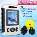 Бесплатная Доставка повезло FF718D 200 КГц/83 КГц Dual Частота Sonar 100 М/футов Обнаружения Мути язык Авто зум