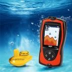 Счастливый Английский Русский меню Беспроводной Эхолот Цвет FF1108-1CW 147ft 45 м глубина sonar эхолот Fishfinder
