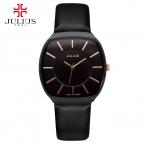 Новая Мода Топ Люксовый бренд ЮЛИЙ мужские Часы кожаный Ремешок часы Кварцевые часы Ультра Тонкий Циферблат Часы мужчины relogio masculino