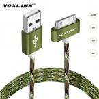 VOXLINK USB Синхронизации Данных Зарядный Кабель Зарядного Устройства Шнур 30 Pin Металла-плагин USB Кабель для Apple iPhone 4 4S ipod ipad 2 3 4