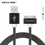 VOXLINK Для iphone 4 Кабеля Нейлона Плетеный 30 pin Быстрое Зарядное Устройство Адаптер оригинальный USB Кабель Для iphone 4s iphone 4 iphone 3GS iPad 2