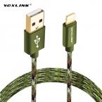 VOXLINK Новые 8 pin Нейлон Плетеный Провод Синхронизации Данных USB Зарядное Устройство Кабель Для iPhone 7 6 6 s плюс 5 5S iPad mini 2 3 Мобильного Телефона кабель