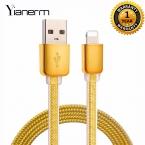 Yianerm Плоским USB Зарядное Устройство Кабель Для Iphone 5 5s 5c 6 6 s 6 Плюс 7 Ipad 1 M освещение Синхронизации Данных Зарядки Usb-кабель