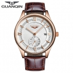Новая Мода Стильные Часы Мужчины Luxury Brand GUANQIN Мужчины Наручные Часы Кварцевые Часы Золотой Черный Часы