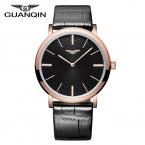 Прибытие Мужчины Кварцевые Часы Топ Luxury Brand GUANQIN водонепроницаемые Тонкие Наручные Часы relogio masculino