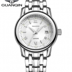GUANQIN Мода повседневная Женщины Кварцевые Часы Леди Люксовый Бренд Золотые Часы Водонепроницаемые Бизнес женщин Наручные Часы Relógio Feminino