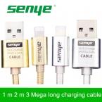 Senye Металл Плетеный Провод Мобильный Телефон Кабели 1 м 1.5 м 2 м 3 м usb кабель Заряжателя Sync Данным Для iPhone 6 5 iPad IOS Данные аксессуары