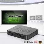 VOXLINK Мини 1080 P 3D 1X2 HDMI Splitter Я Вход 2 выход HDMI 1.4 Дистрибьютор Конвертер Поддержка DTS/Dolby-AC3/DSD Для HDTV PS3 DVD