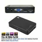 Full HD Media player Мини Автозапуска 1080 P SD/U Диск HDD USB2.0 Внешний мультимедийный плеер С HDMI VGA Выход Поддержка H.264 RMVB