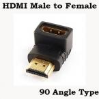 Позолоченные 90 град. угол тип 1080 P микро-hdmi мужчина к микро-hdmi женский конвертер адаптер HDMI удлинитель адаптер для HDTV