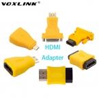 VOXLINK HDMI для mini HDMI/DVI 24   1/Micro HDMI адаптер Мужчины к женский/мужской Конвертер Разъем Поддержка 3D HD 1080 P Для ТВ PS3 DVD
