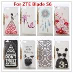 ZTE Blade S6 Случай/Роскошные Кристалла Алмаза 3D Bling Твердый Переплет Пластиковый Корпус Для ZTE Blade S6 (5 дюймов) сотовый Телефон Случае