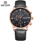Megir relojes hombre Люксовый Бренд мужские часы Моды Случайные Спортивные Часы Бизнес Старинные Часы Relogio Relojes мужчины