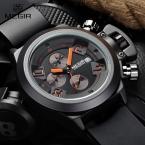 MEGIR новые марка силиконовой лентой аналоговый Хронограф секундомер армия styligh мужские часы лучший бренд класса люкс мужчины мужской часы
