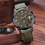 Megir Часы Мужские Часы Мужчины Часы  Лучший Бренд Класса Люкс Известный Стиль Кварцевые Наручные Часы для Мужчин Кварцевые часы Relogio Masculino