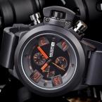 MEGIR Роскошные Лучший бренд Военные Часы Мужская Мода Водонепроницаемый Силиконовый Кварцевые Часы Автоматическая Дата Наручные Часы Relogio Masculino