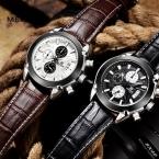 Мода MEGIR мужские кварцевые часы Водонепроницаемые часы, Хронограф Тонкий мужские часы лучший бренд relogio masculino esportivo