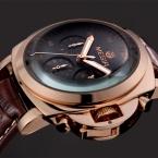 Мужские часы Класса Люкс MEGIR Бренд Многофункциональный Стильные Мужские Часы Кожа Платье мужская Кварцевые Спортивные Часы Наручные Часы мужчин