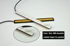 12 В Супер Яркий Белый 6 Вт COB СИД DRL СВЕТОДИОДНЫЕ Дневные Ходовые Огни лампа Алюминиевый Chip Палитры бесплатная доставка
