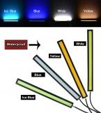 12 В DRL Супер Яркий Белый, синий, Прозрачный Синий или Желтый 6 Вт COB Универсальный Led Вождения Дневного Lightslamp 17 см